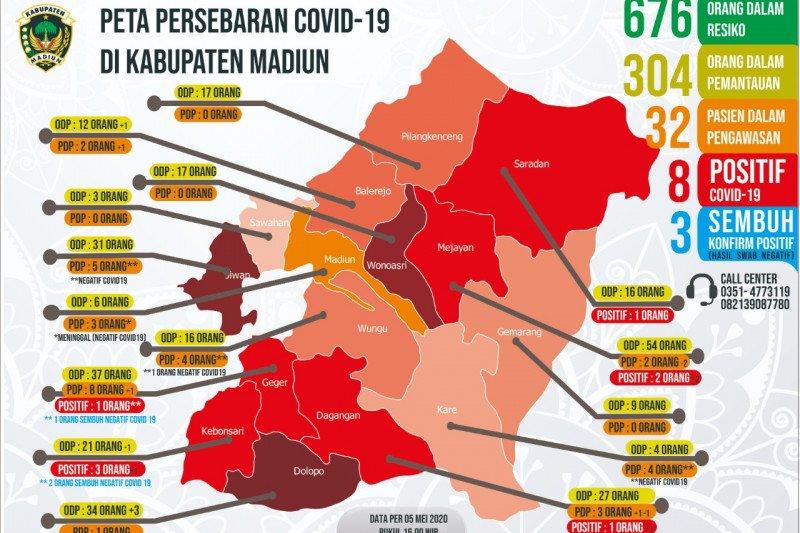 Pasien positif COVID-19 di Kabupaten Madiun bertambah