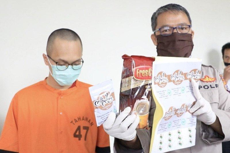 Polda DIY mengungkap peredaran tembakau gorila bermodus kemasan kopi