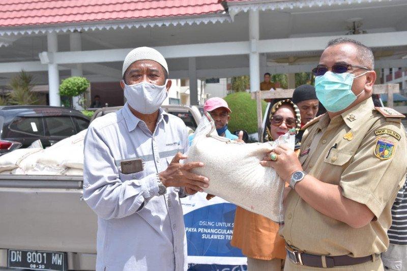 DSLNG sumbang 2,5 ton beras dukung Pemprov Sulteng lawan COVID-19