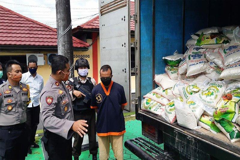 Polres Kobar sita 2.340 kilogram beras oplosan siap edar