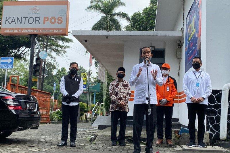 Tinjau Kantor Pos Kota Bogor Presiden Minta Warga Yang Belum Terdaftar Terima Bansos Untuk Lapor Antara Sumbar