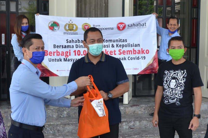 KSP Sahabat Mitra Sejati bantu sembako bagi pelaku UMKM terdampak COVID-19