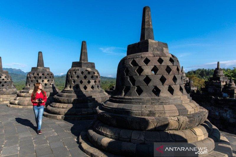 PT TWC simulasi penerapan normal baru di Candi  Borobudur
