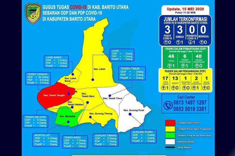Jubir Gugus : Pasien positif sembuh, Barito Utara tetap zona merah