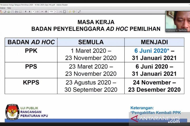 KPU rencanakan tahapan pilkada mulai bergulir 6 Juni 2020