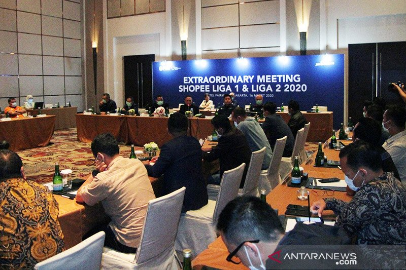 Rapat PSSI untuk putuskan kelanjutan liga digelar Rabu malam