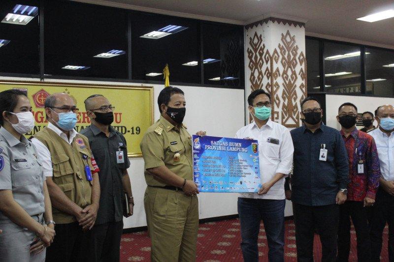 Satgas BUMN Lampung salurkan bantuan bagi penanganan COVID-19 di Provinsi Lampung