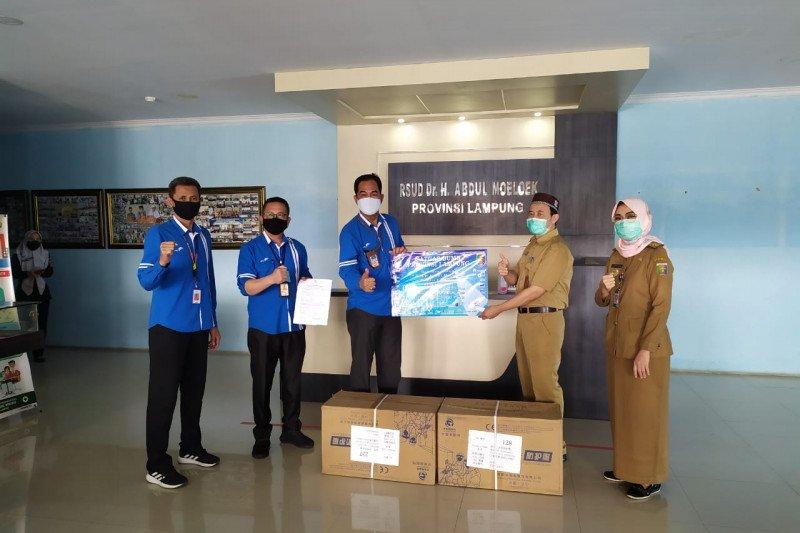 Penyaluran bantuan untuk rumah sakit dari Satgas BUMN Provinsi Lampung