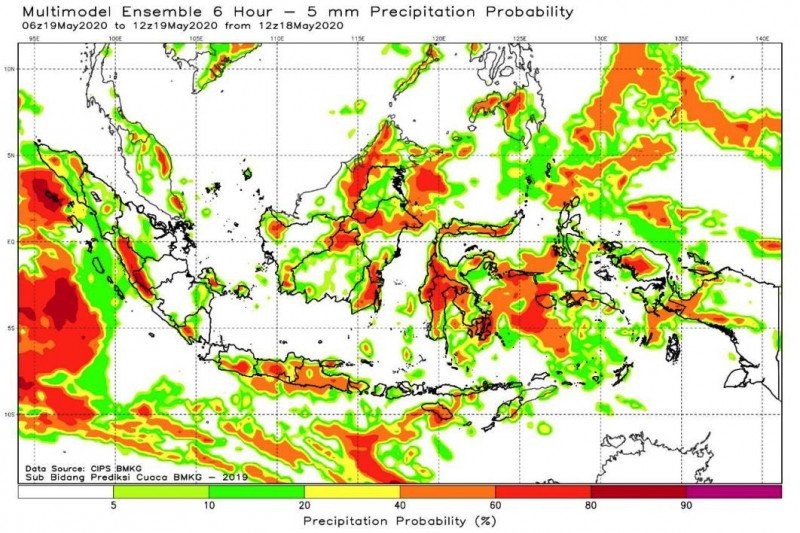 BMKG peringatkan waspadai potensi hujan lebat di Lampung