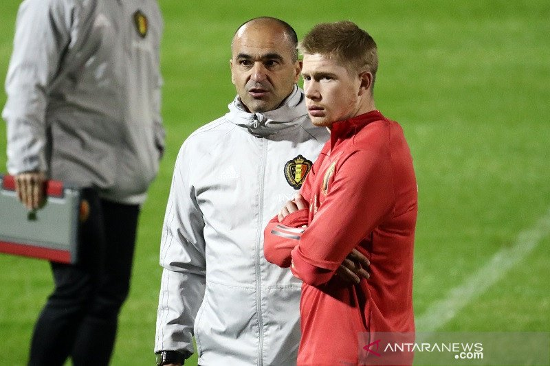 Belgia resmi perpanjang kontrak pelatih Timnas Roberto Martinez
