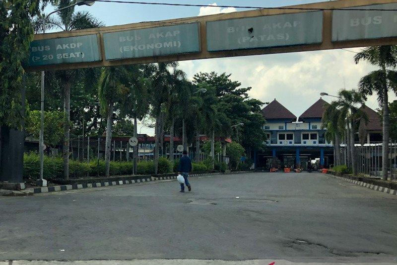 Pengelola Terminal Giwangan Yogyakarta perkirakan tidak ada lonjakan penumpang Lebaran