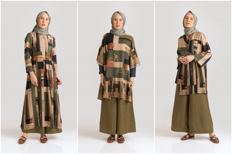 Koleksi gaun Lebaran KAMI terinspirasi teknik quilting Korea