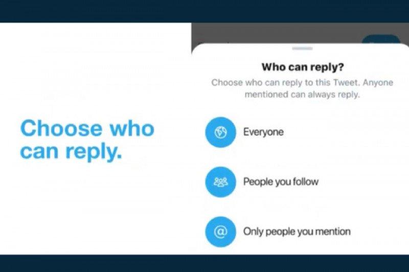 Twitter sedang uji coba batasi tweet balasan