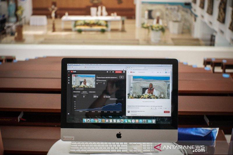 Ibadah Kenaikan Isa Al-Masih di Makassar digelar  virtual