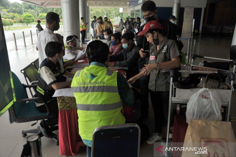 Penerbangan jelang Idul Fitri di Bandara SMB II Palembang