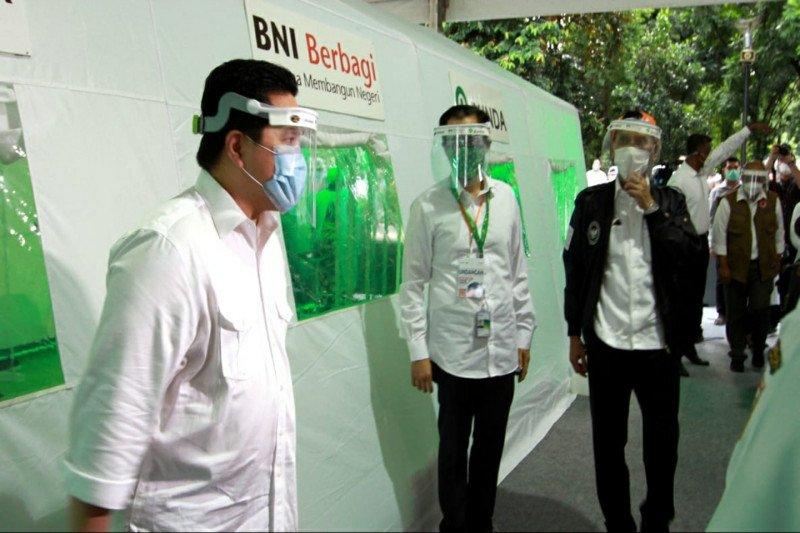 Menteri BUMN: Swab test gratis BNI bukti kerja sama kuat BUMN, swasta, dan pemerintah