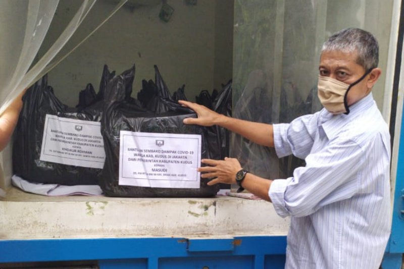 Pemkab Kudus bantu sembako senilai Rp600.000 warganya di Jakarta