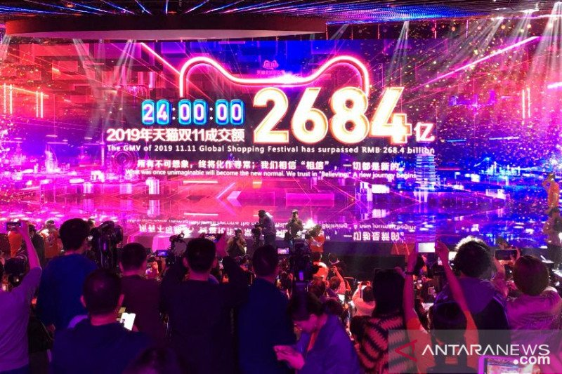 Alibaba raih penjualan 1 triliun dolar pada tahun fiskal 2020