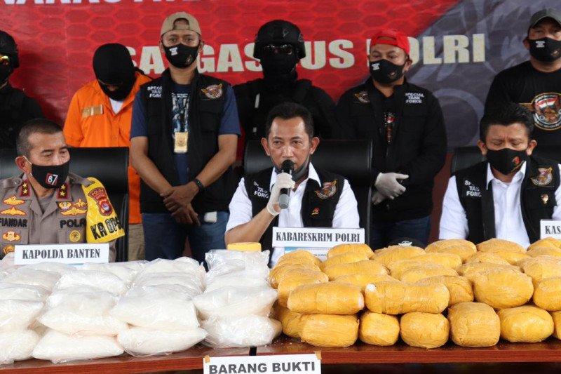 Mabes Polri amankan sabu-sabu 821 kg dari sebuah ruko