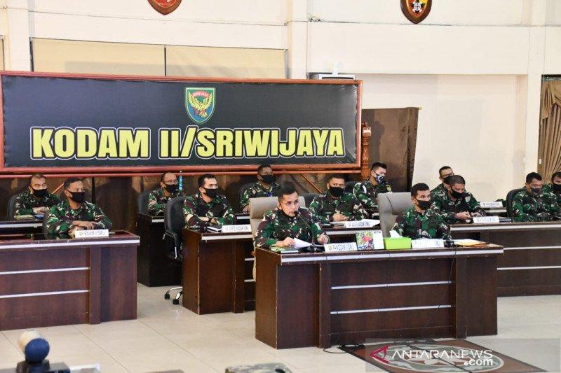Prajurit Kodam II Sriwijaya perketat penjagaan pos PSBB