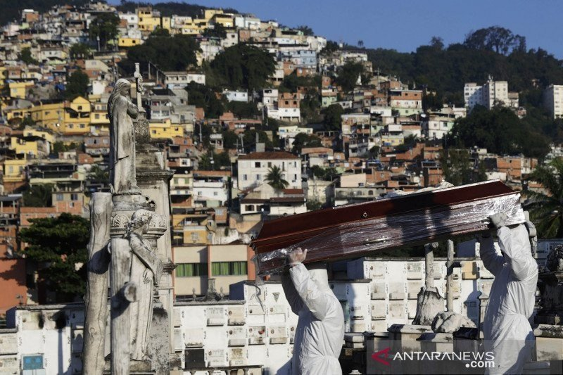 Brazil umukan 46.860 kasus baru corona dalam sehari