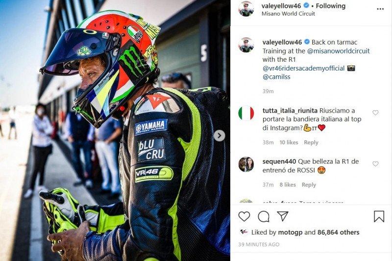 Valentino Rossi kembali jajal Sirkuit Misano menyusul pelonggaran lockdown