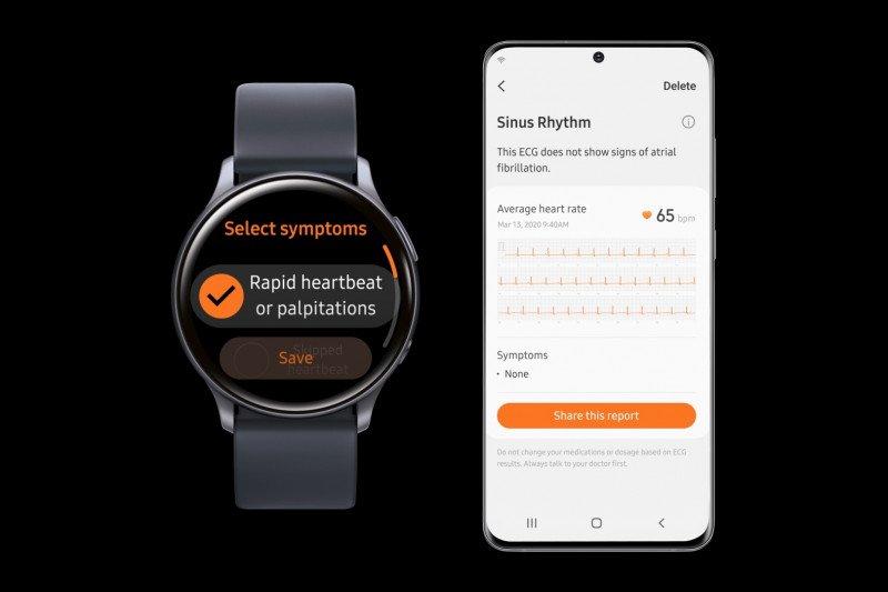 Samsung Galaxy Watch Active2 hadirkan fungsi pemantau jantung EKG