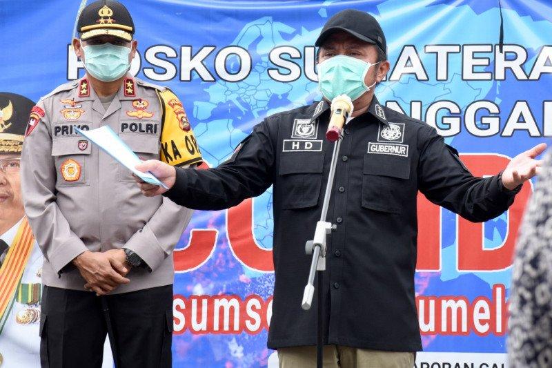 Gubernur Sumsel ingatkan kembali petugas dalam penegakan PSBB harus utamakan etika
