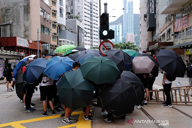 Demonstran Hong Kong gelar aksi diam nentang UU keamanan nasional