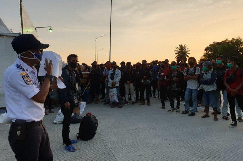 Pemudik melalui Pelabuhan Bakauheni capai 1.614 orang