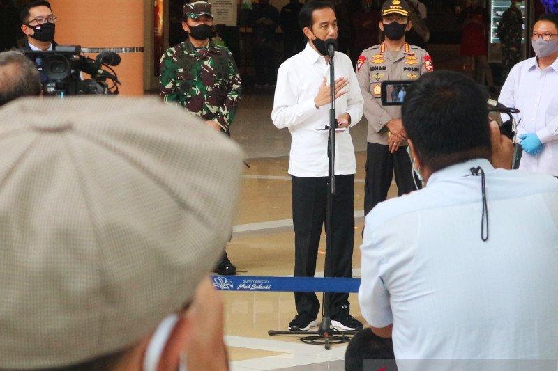 Presiden Jokowi: Kita ingin TNI dan Polri ada di setiap keramaian