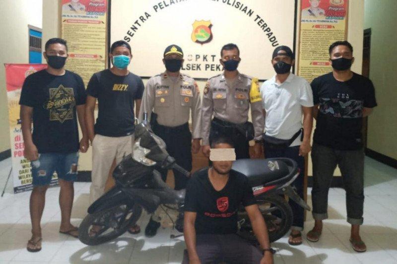 Berkat CCTV curi motor petani, si Rambo tak berkutik saat ditangkap polisi