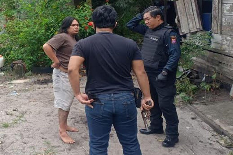 Residivis penusuk warga Kota Palangka Raya akhirnya ditangkap polisi