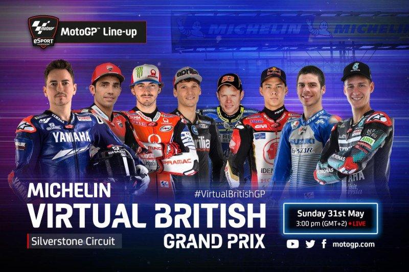 MotoGP virtual menuju GP Silverstone menampilkan Jorge Lorenzo