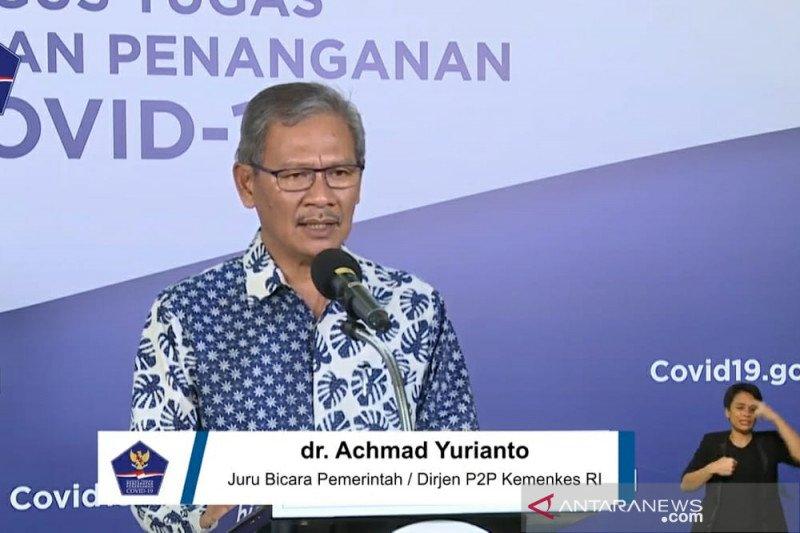 Jubir Yurianto: Kasus positif COVID-19 bertambah 678 menjadi 25.216 orang