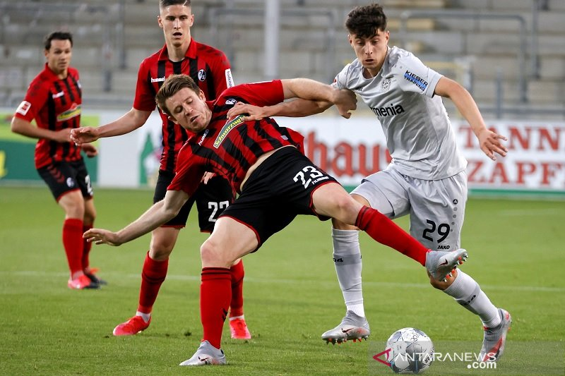 Gol tunggal Kai Havertz bawa Leverkusen ke posisi ketiga