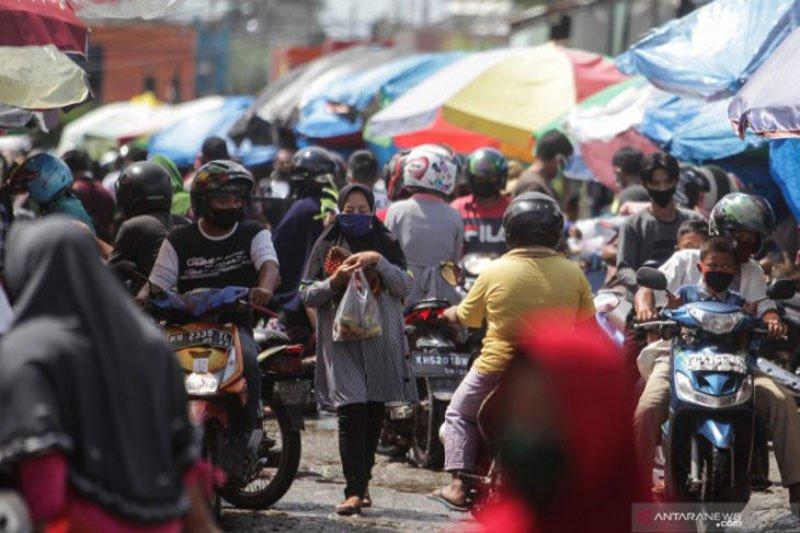 Di Pasar Besar Palangka Raya ditemukan 27 kasus  COVID-19