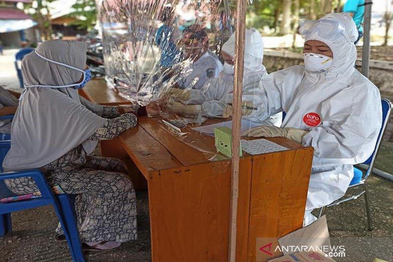 Hasil rapid test pedagang di Muara Teweh  semua non reaktif