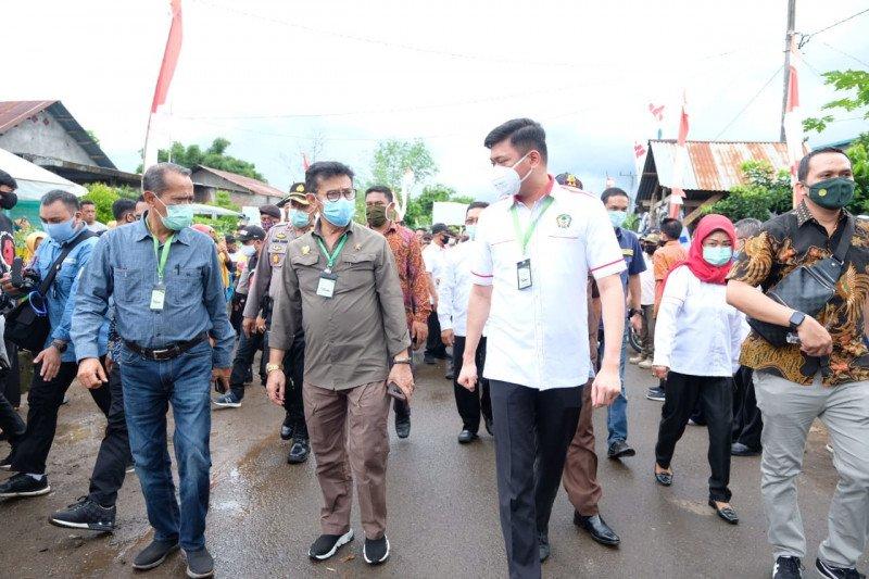Menteri Pertanian  tinjau program P2L di Kabupaten Gowa