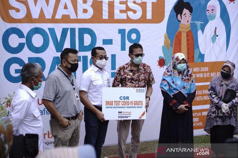 BNI berikan 2000 test swab gratis untuk masyarakat Sumatera Barat