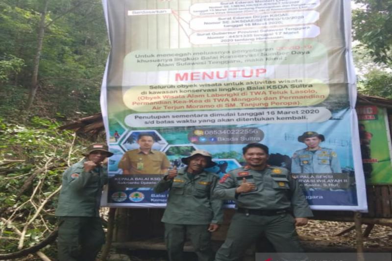 BKSDA Sulawesi Tenggara tutup tiga objek taman wisata alam saat pandemi COVID-19