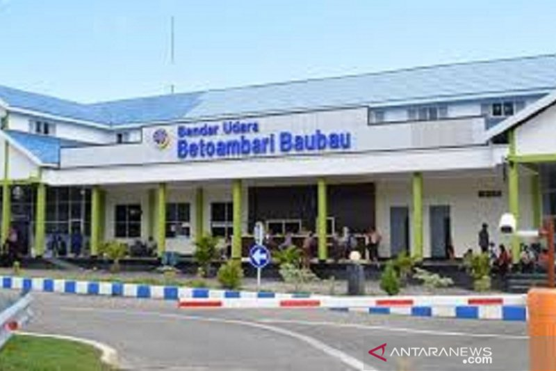 Bandara Betoambari  menunggu instruksi buka penerbangan komersil
