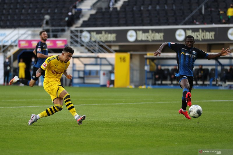Hattrick Jason Sancho hiasi kemenangan besar Dortmund atas Paderborn