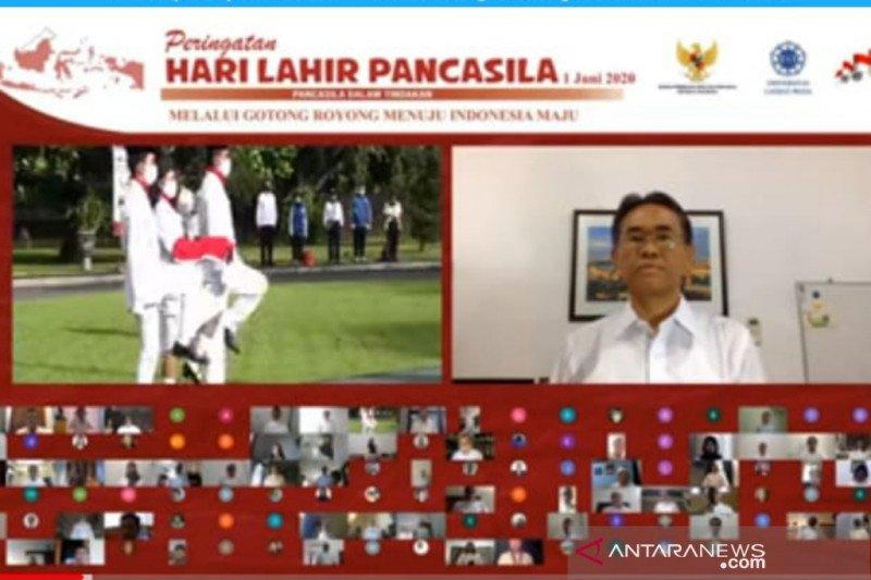 Rektor UGM harap Pancasila terus diaktualisasikan saat normal baru
