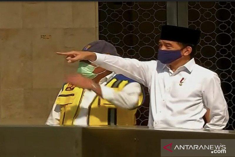 Presiden Jokowi meninjau kesiapan masjid Istiqlal terapkan normal baru