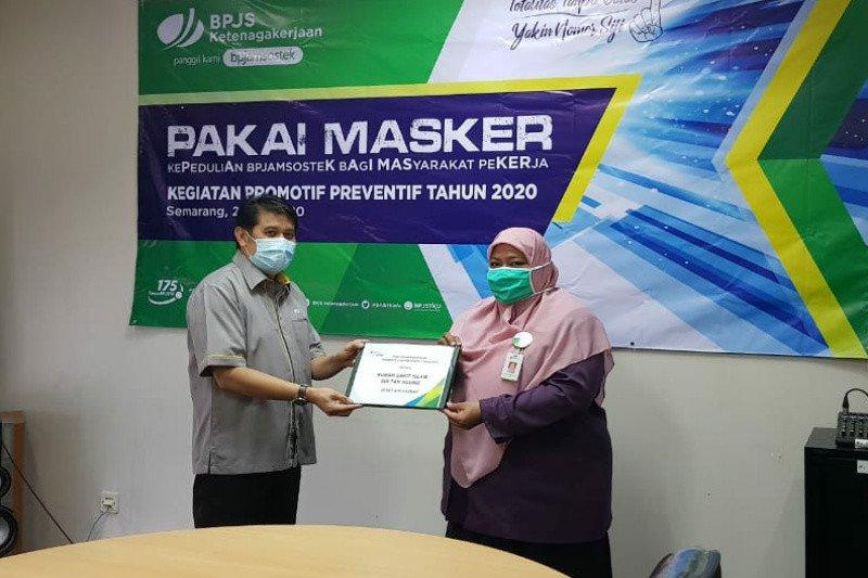 Ikut cegah COVID-19, BPJAMSOSTEK Semarang Majapahit terapkan kegiatan promotif preventif