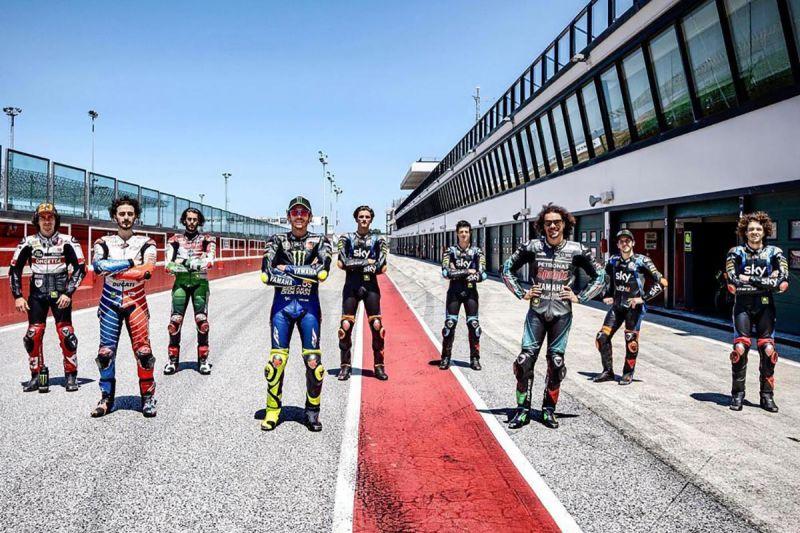 Valentino Rossi dan VR46 Academy kembali berlatih di Misano