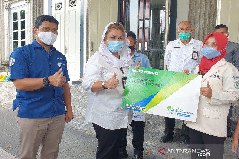 BPJAMSOSTEK Semarang Pemuda jamin perlindungan 615 relawan COVID-19