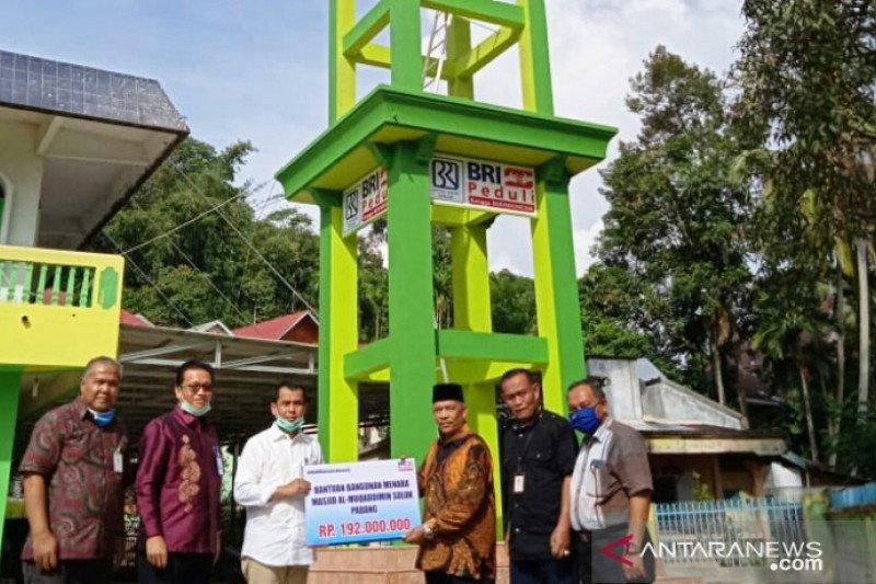 Bank BRI Cabang Solok bantu pembangunan menara masjid Al- Muqaddimin