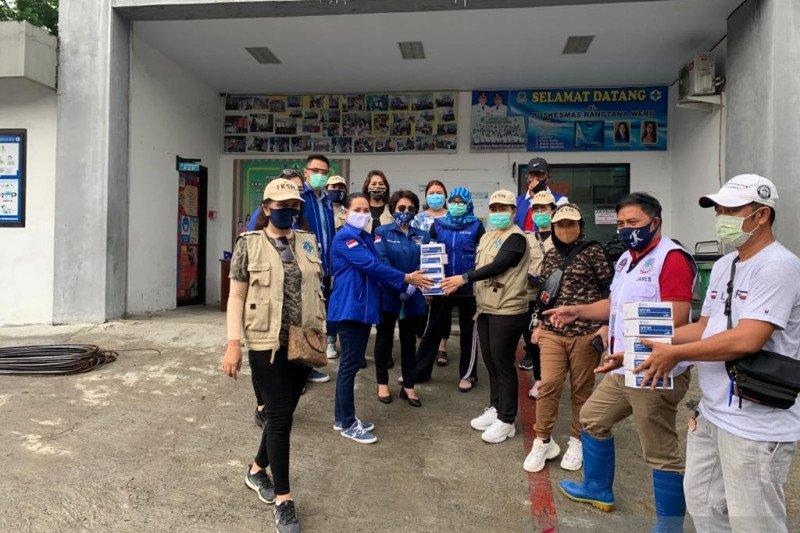 Tim Kemanusiaan bantu alat rapid tes bagi FKSM-FKDM-PMI dan Puskemas Ranotana